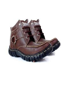 Brown Leather Digger Shoes For Men