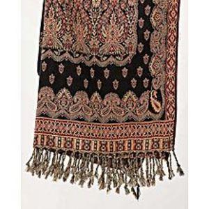 Misbah's StyleBlack & Maroon Pashmina Shawl