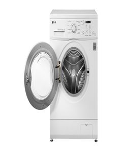 LG Fully Automatic Front Loading Washing Machine - White