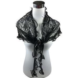 Fashion Women Long Wrap Lace Sheer Flower Mantilla Scarf Shawl