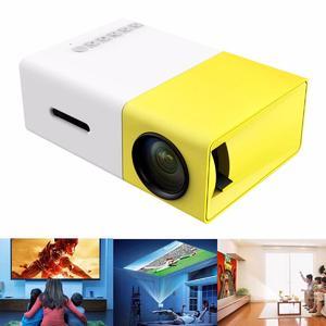 YG-300 Mini Cinema Home Theatre Projector 1080P Portable Multimedia LCD HDMI USB EU PLug