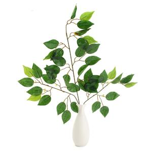 The Old Tree Artificial Plant Banyan Silk Leaves Bunch Garden Flower Vine Wedding Home Decor Red Branches