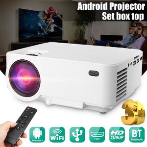 3000 Lumens 1080P Full HD 3D Projector Android WiFi Home Theatre HDMI USB VGA UK Plug
