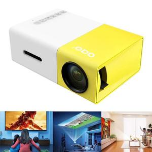 Meer YG300 Portable Mini Pico Full Color LED projector for Children's Gift, Video Movie, Party Game, Outdoor Entertainment with HDMI USB AV Interfaces and Remote Control