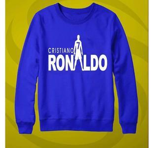 Blue Ronaldo Printed Sweatshirt