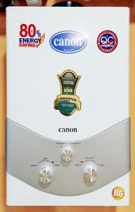 Canon Instant Geysers GAS Water Heater - Model JDC12 Ultra low water-pressure start system, - 6 ltr