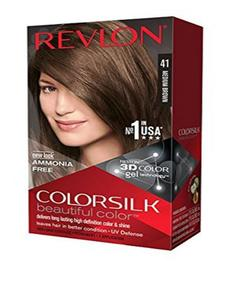 Color Silk 3D Technology USA For Men and Women No 41 Medium Brown Red
