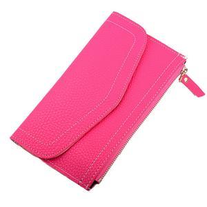 Women Fashion Leather Wallet Zipper Clutch Purse Lady Long Handbag Bag