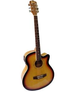 "40"" Semi Acoustic Guitar with Built in Tuner & 5 Band Equalizer - Sun Burst"