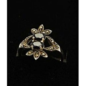 Gilgit BazarSapphire Stone Silver Ring GB(5)4909