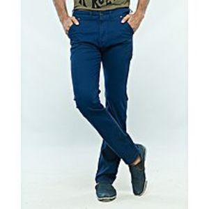 Alam's Store Blue Slim Fit Stretchable Cotton Jeans for Men
