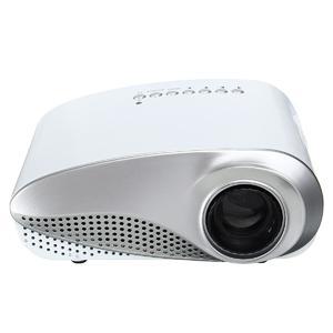 Mini Portable 1080P 3D HD LED Projector Multimedia Home Theater USB VGA HDMI White US Plus