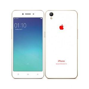 Oppo A37 -Simple Matt White iPhone Look Skin -Mobile Skin