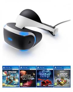 PlayStation VR Headset with 4 VR Games - Black