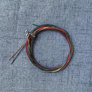 TE 6Pcs/set Rainbow Colorful Guitar Strings E-A For Acoustic Folk