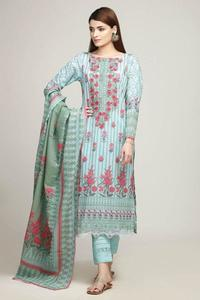 Khaadi Un-Stitched Lawn Embroidered Replica Dress for Women