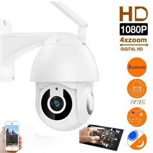 1080P Wireless PTZ Outdoor Security Camera 4x Zoom 2MP MINI Network Dome Audio