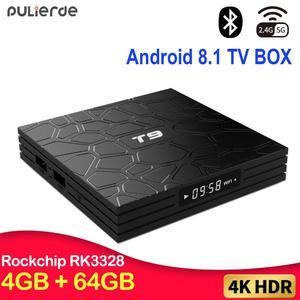 Android 9.0 TV BOX T9 Smart TV BOX 4K Set Top Box Quad Core 4GB RAM 64GB ROM H.265 USB 3.0 Google Player Store Youtube IPTV
