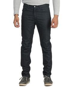 Dark Blue Basic Denim Slim-fit Jeans for Men - Tapered-fit Size: 32