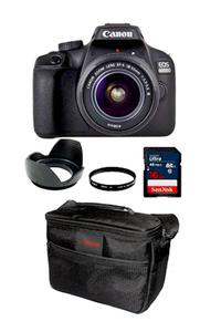 CANON 4000D + 18-55III + FILTER + HOOD + 16GB CARD + DSLR BAG