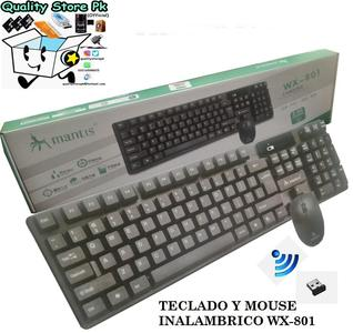 MANTIS Wireless Keyboard and Mouse Set Combos WX-801