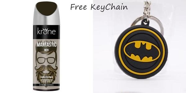 Pack of 2 - Krone Mantastic Deodorant for Men & Batman Keychain Free