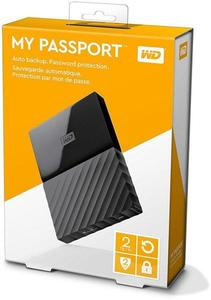 WD 2TB Black My Passport Ultra Portable External Hard Drive - USB 3.0 - WDBBKD0020BBK