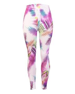 Purple Featwomen Printed Tights for Women