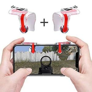 MN PUBG Controller Trigger Mobile Joystick For Best Grip Trigger Button Aim Key Assist Game Handle for iPhone Android Phones