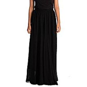 JasmarsBlack Chiffon Maxi Skirt For Women
