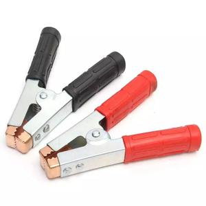 2 PCS 600A Alligator Clips Crocodile Clamps Battery Pure Copper Clip Clamp Electric Test helper with Protective Insulation Cover