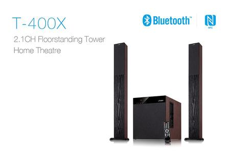 Fenda T-400X 2.1 Tower Speaker with Elegant and Beautiful Wooden Cabinet Sound System