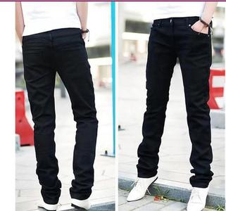 Export Quality Stretch Slim Fit Jeans Men's Black Denim Jeans