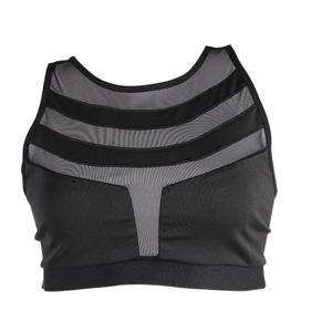 VAKIND Sexy Women Mesh Breathable Quick Dry Fitness Yoga Running Vest Sports Bras
