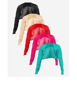 Pack Of 5 - Multicolor Viscose Shrug For Women