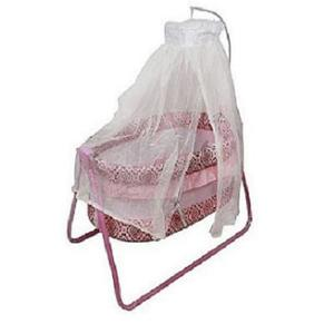Imported Genuine Baby Swing Cot Cradle Dual Stands Support along with Mosquito Net - Pink Color