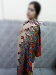 Oletto - Pashmina Shawl Print Kalamkar Embroidery 09