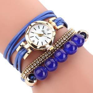 Watches Women Popular Quartz Watch Luxury Bracelet Flower Gemstone Wristwatch