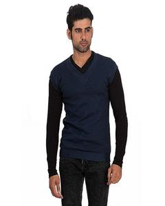 Babazchoice Blue Cashmere Sleeveless Sweater For Men