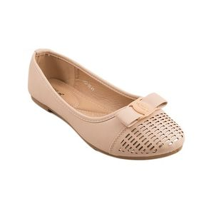 Beige Artificial Leather Womens Pumps 060-99