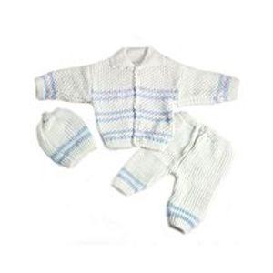 Peekaboo3 Pcs White Collar Sweater Set for Newborn