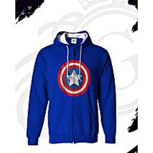 Royal Accessories Captain America Winter Printed Cotton Zipper Hoodies