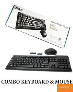 Jedel Wireless Keyboard & Mouse Combo - Ws1100
