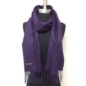 Purple Wool Muffler For Men