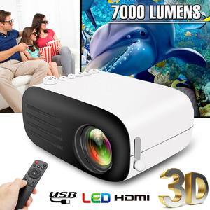 800 Lumens Portable Mini 1080P HD Video Projector LED Home Theater Cinema USB HDMI AV SD EU /US Plug (US Plug)