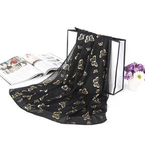 Elegant Butterfly Scarves For Women Vintage Veil Wrap Scarf Shawl