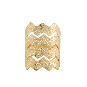 Gold Plated Challa Ring Men and Women - Golden