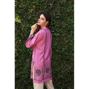 So Kamal Winter Collection  Purple Linen Embroidered 1PC -Unstitched Shirt DPW18 702 EF01267-STD-PUR