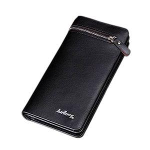 Leather Wallet Case - Black