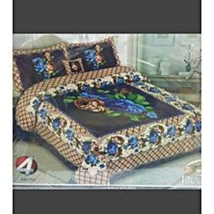 PearlBy Ab 4(Pcs)-King Size Bed Sheets-Double Bed Sheets-Pillow Covers-Cotton Bed Sheets